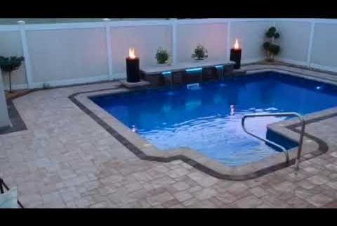 Cambridge Paver Pool Patio with Fire and Waterfalls – Queens, NY